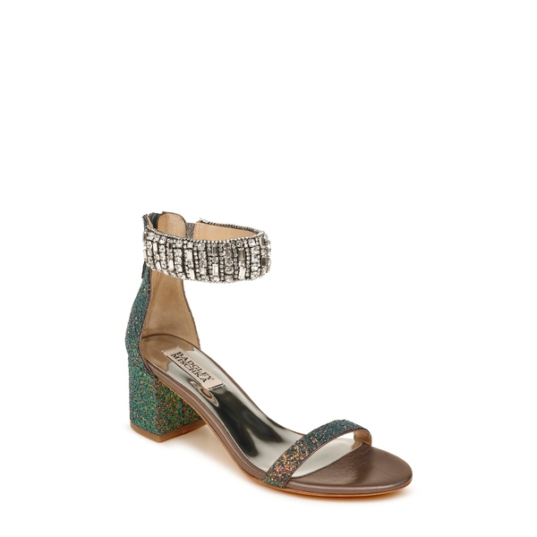 バッドグレイミッシカ レディース サンダル シューズ Badgley Mischka Gallia Ankle Strap Sandal Midnight Multi Glitter