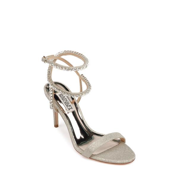 バッドグレイミッシカ レディース サンダル シューズ Badgley Mischka Claudette Crystal Embellished Sandal Platino Glitter