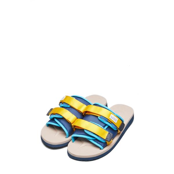 スイコック レディース サンダル シューズ Moto Cab Slide Sandal Navy/ Tan