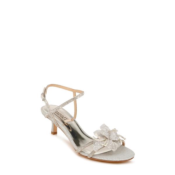 バッドグレイミッシカ レディース サンダル シューズ Badgley Mischka Gianna Crystal Embellished Strappy Sandal Silver Glitter