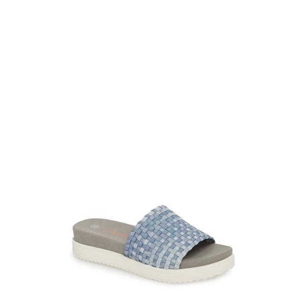 バーニーメブ レディース サンダル シューズ Capri Slide Sandal Cloud Shimmer Fabric