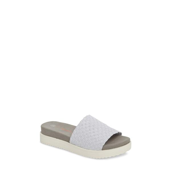 バーニーメブ レディース サンダル シューズ Capri Slide Sandal White Shimmer Fabric