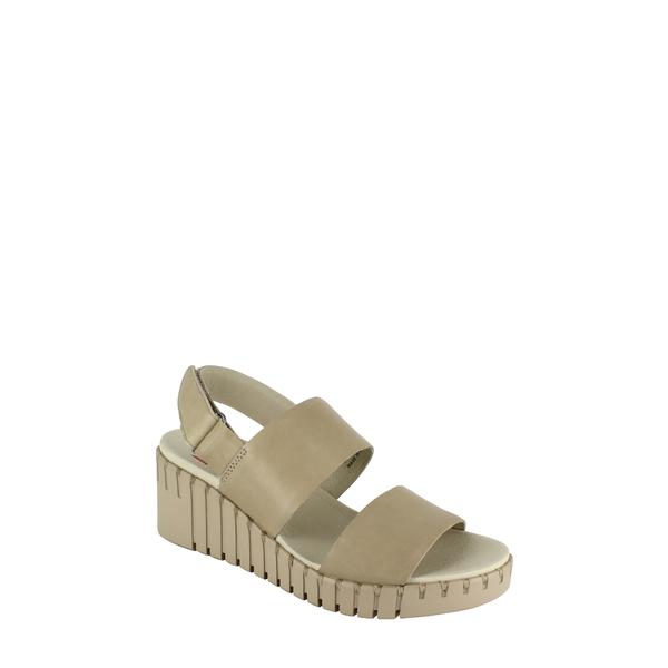 ナショナルコンフォート レディース サンダル シューズ Alida Wedge Sandal Stone Leather