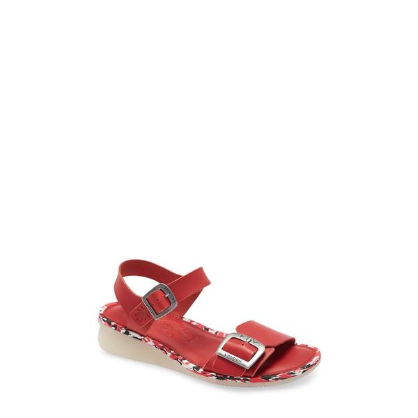 フライロンドン レディース サンダル シューズ Comb Sandal Lipstick Red Brooklyn Leather