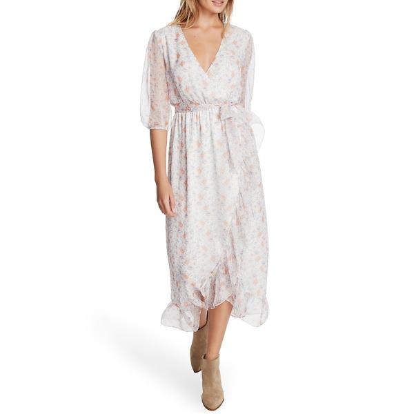 ワンステイト レディース ワンピース トップス Woodland Garden Faux Wrap Dress Soft Ecru