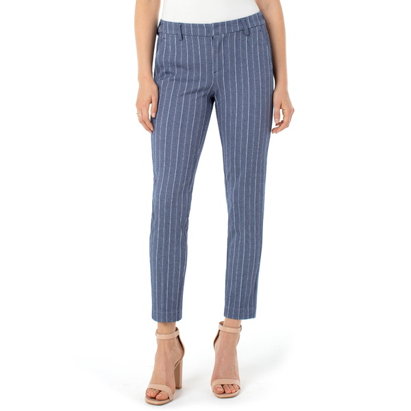 リバプール レディース カジュアルパンツ ボトムス Kelsey Knit Trousers Blue/ With Herrinbone Stripe