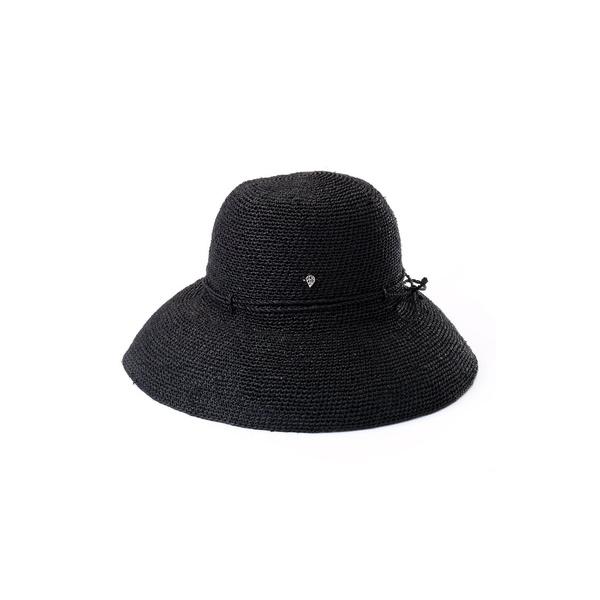 ヘレンカミンスキー レディース ヘアアクセサリー アクセサリー 'Provence 12' Packable Raffia Hat Charcoal