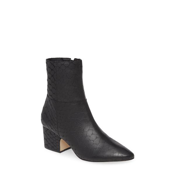 マチス レディース ブーツ&レインブーツ シューズ At Ease Block Heel Bootie Black Leather