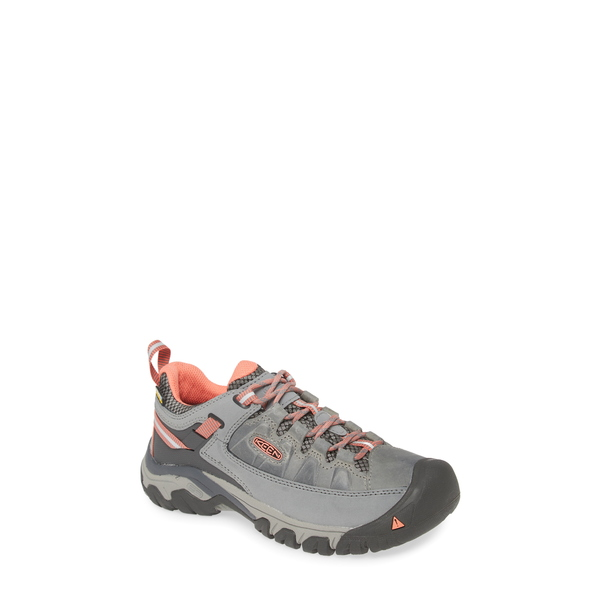 キーン レディース サンダル シューズ Targhee III Waterproof Hiking Shoe Steel Grey/ Coral Leather
