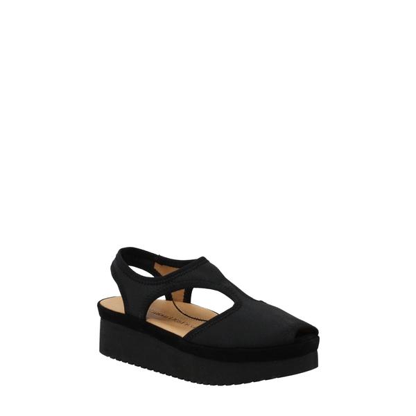ラモールドピード レディース サンダル シューズ Amichai Wedge Sandal Black Spandex Fabric