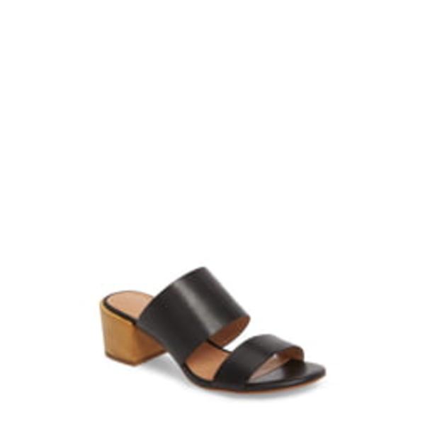メイドウェル レディース サンダル シューズ Kiera Block Heel Slide True Black Leather