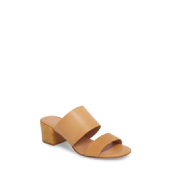 メイドウェル レディース サンダル シューズ Kiera Block Heel Slide Vintage Beige Leather