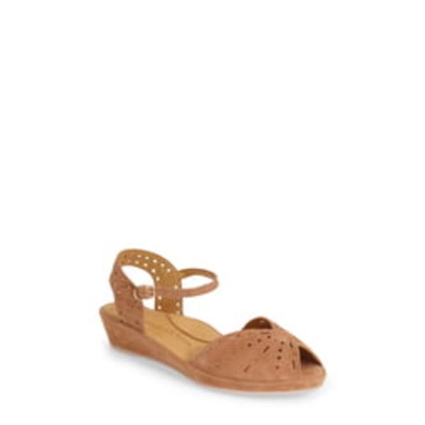 ラモールドピード レディース サンダル シューズ 'Brenn' Ankle Strap Sandal Cognac Suede
