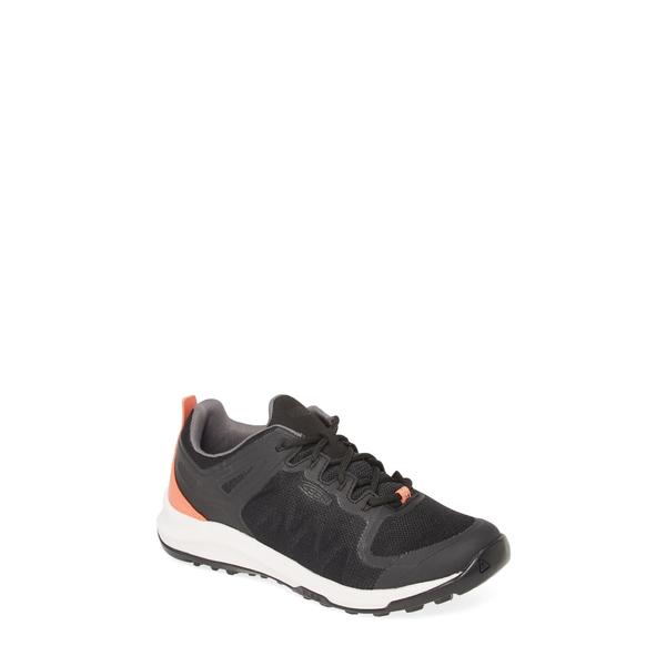 キーン レディース スニーカー シューズ Explore Vent Sneaker Black/ Coral Faux Leather