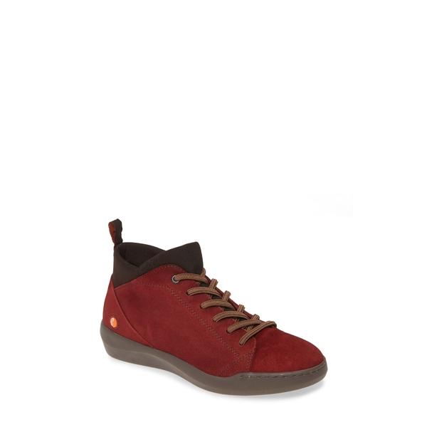 ソフチノス レディース スニーカー シューズ Biel Sneaker Dark Red Leather