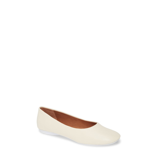 ケネスコール レディース サンダル シューズ Gentle Souls Signature Eugene Travel Ballet Flat White Leather