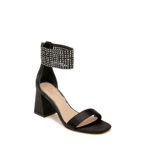 ジュウェルダグレイミシュカ レディース サンダル シューズ Fennella Crystal Embellished Sandal Black Satin
