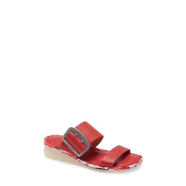フライロンドン レディース サンダル シューズ Cape Slide Sandal Lipstick Red Brooklyn Leather