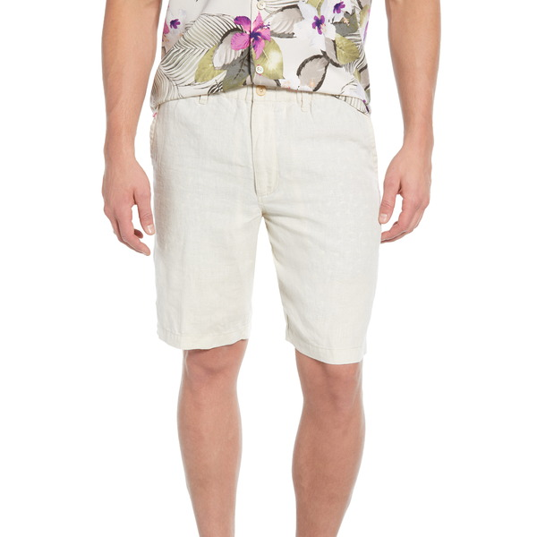 トッミーバハマ メンズ カジュアルパンツ ボトムス Linen the Good Life Flat Front Linen Shorts Natural Linen