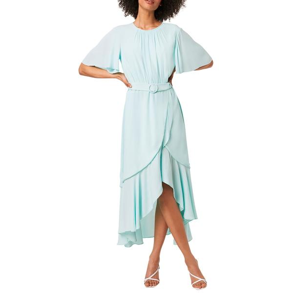 フレンチコネクション レディース ワンピース トップス Emina Belted High/Low Midi Dress Glass Mint