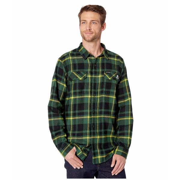 コロンビアカレッジ メンズ シャツ トップス Oregon Ducks Collegiate Flare Gun Flannel Long Sleeve Shirt Forest Plaid