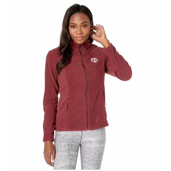 コロンビアカレッジ レディース コート アウター Texas A&M Aggies CLG Give and Go II Full Zip Fleece Jacket Deep Maroon