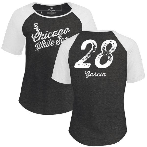ファナティクス レディース Tシャツ トップス Chicago White Sox Fanatics Branded Women's Personalized Sideline TriBlend TShirt Black
