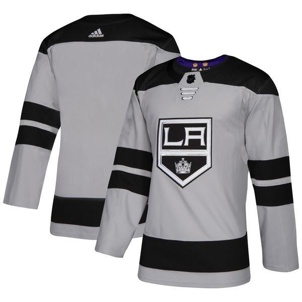 アディダス メンズ ユニフォーム トップス Los Angeles Kings adidas Alternate Authentic Jersey Gray