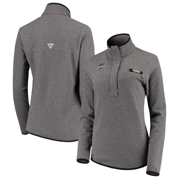 コロンビア レディース ジャケット&ブルゾン アウター Seattle Sounders FC Columbia Women's Harborside Fleece Pullover Jacket Charcoal