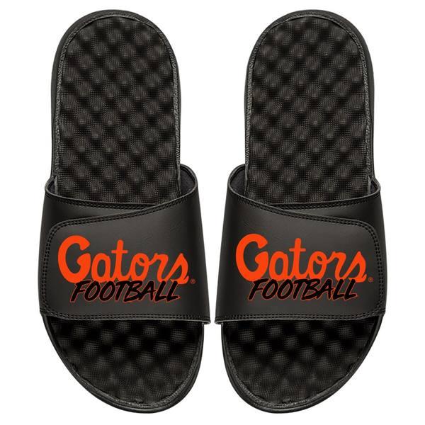 アイスライド メンズ サンダル シューズ Florida Gators ISlide Football Stacked Slide Sandals Black