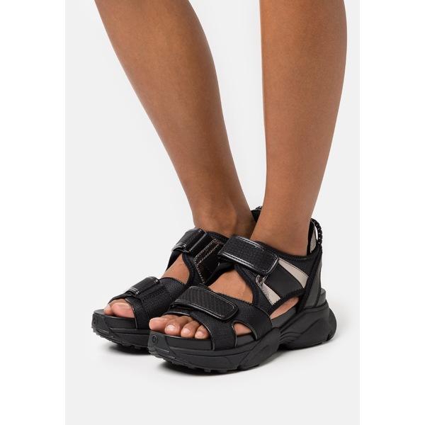 完売 マイケルコース レディース シューズ サンダル black 全商品無料サイズ交換 Platform HARVEY 正規取扱店 - mres00da sandals