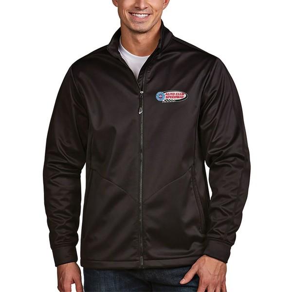 アンティグア メンズ ジャケット&ブルゾン アウター Auto Club Speedway Antigua Golf Full Zip Jacket Black