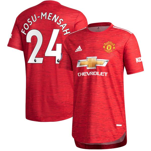 アディダス メンズ ユニフォーム トップス Timothy FosuMensah Manchester United adidas 2020/21 Home Authentic Jersey Red