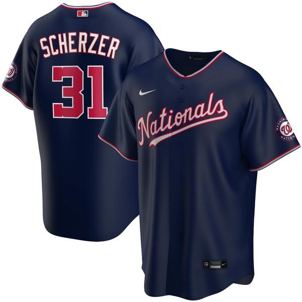 ナイキ メンズ ユニフォーム トップス Max Scherzer Washington Nationals Nike Alternate 2020 Replica Player Jersey Red