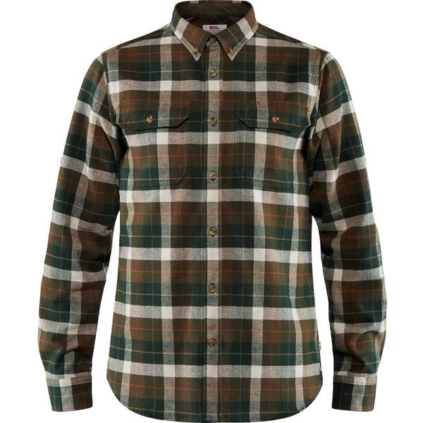 フェールラーベン メンズ シャツ トップス Singi Heavy Regular Fit Flannel Shirt - Men's Deep Forest