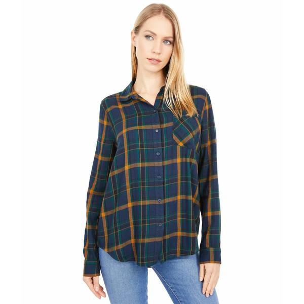 トップス Classic Navy/Green ラッキーブランド レディース Flannel Shirt シャツ