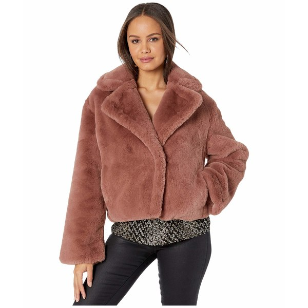 ビービーダコタ レディース コート アウター Big Time Plush Faux Fur Jacket Rose/Taupe