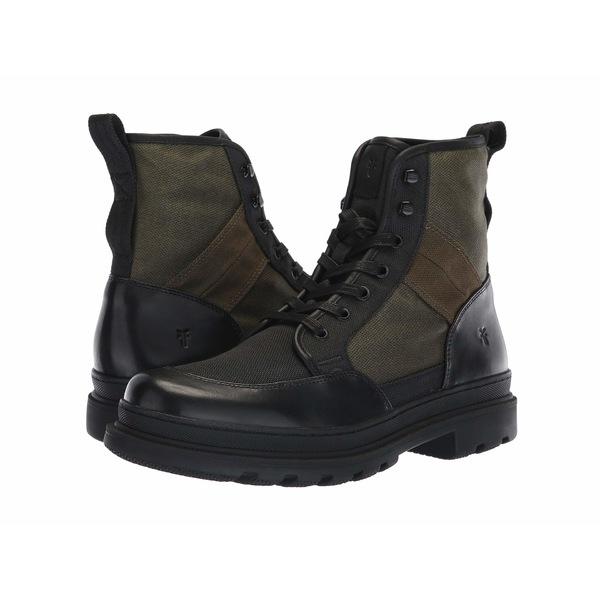 フライ メンズ ブーツ&レインブーツ シューズ Scout Boot Black Multi Antique Pull-Up/Waxy Canvas