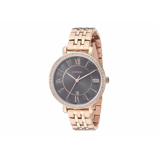 フォッシル レディース 腕時計 アクセサリー Jacqueline Three-Hand Stainless Steel Watch ES4723 Rose Gold Stainless Steel