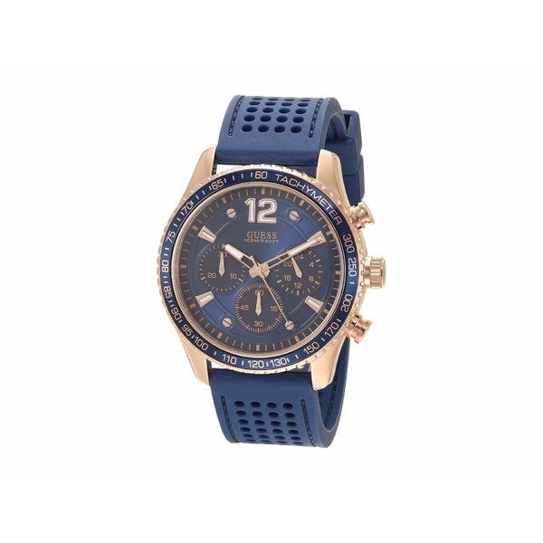 ゲス メンズ 腕時計 アクセサリー W0971G3 Rose Gold/Blue