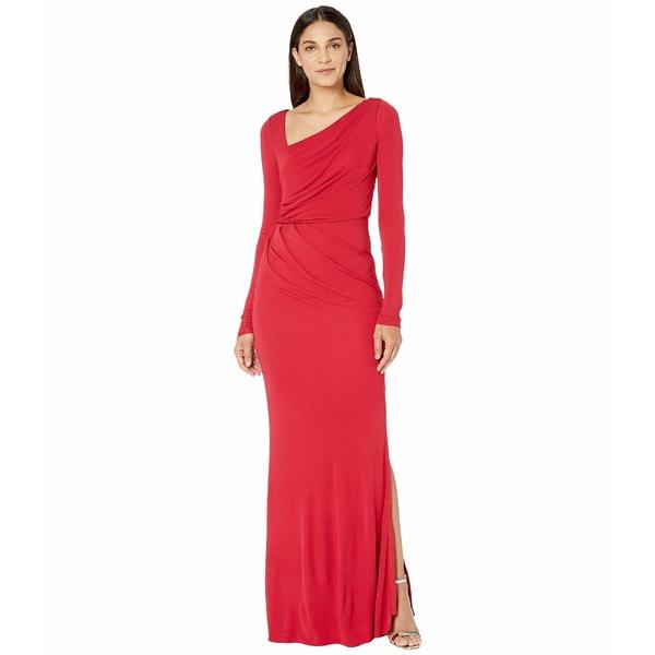 バッジェリーミシュカ レディース ワンピース トップス Long Sleeve Stretch Jersey Gown Red