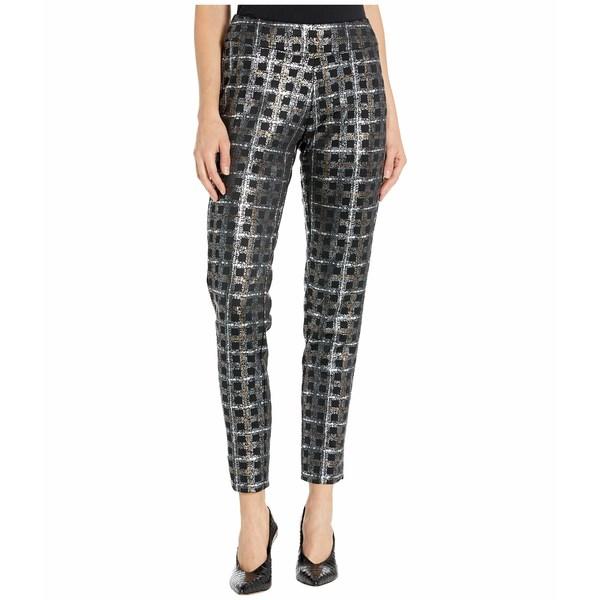 クレイジーラリー レディース カジュアルパンツ ボトムス Metallic Printed Pants Silver Grid