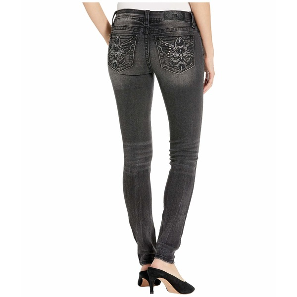 ミスミー レディース デニムパンツ ボトムス Wing Fleur De Lis Skinny Jeans in Grey Grey