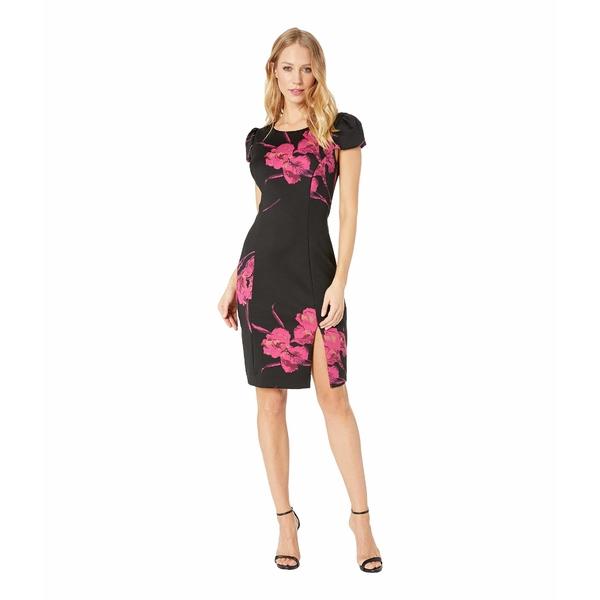 ベッツィジョンソン レディース ワンピース トップス Floral Scuba Midi Dress Black/Floral