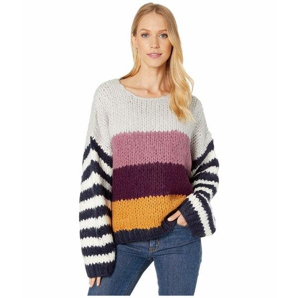 ブランクニューヨーク レディース ニット&セーター アウター Chunky Multicolor Stripe Sweater On Point