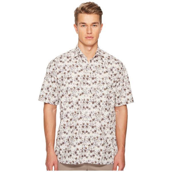 イレブンティ メンズ シャツ トップス Oversized Flower Print Shirt Brown/Blue