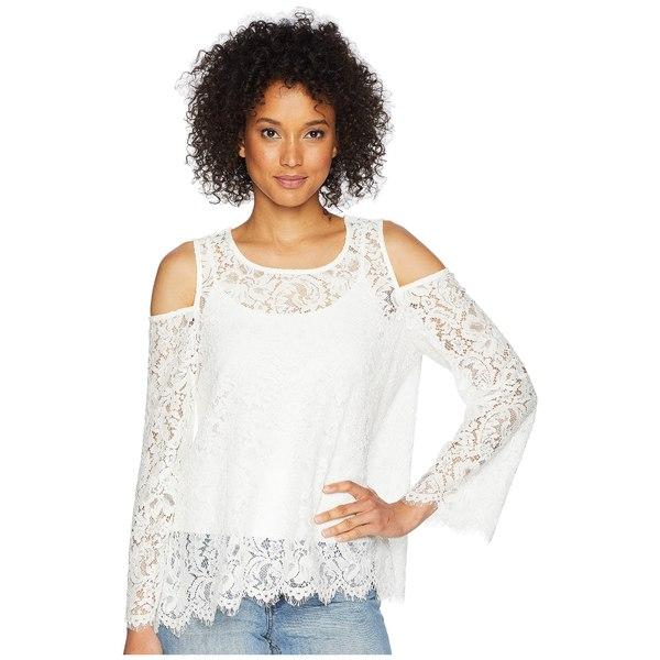カレンケーン レディース シャツ トップス Cold Shoulder Lace Top Off-White