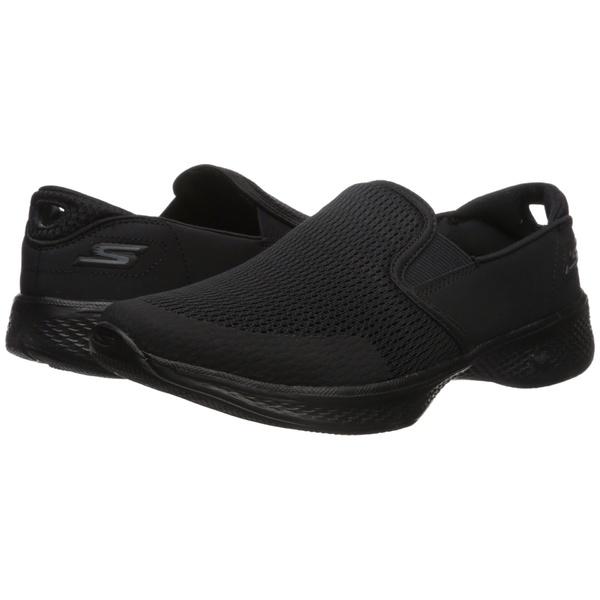 スケッチャーズ レディース スニーカー シューズ Go Walk 4 - Attuned Black
