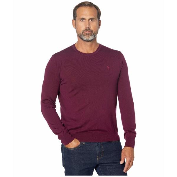 ラルフローレン メンズ ニット&セーター アウター Washable Merino Wool Sweater Classic Burgundy
