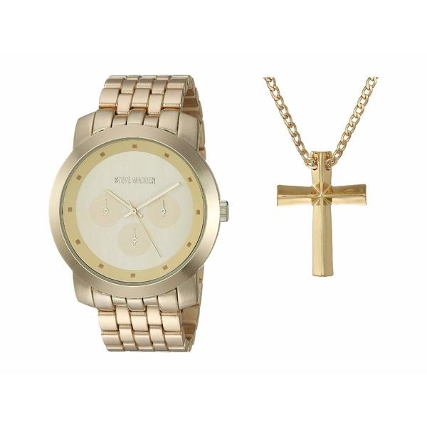 スティーブ マデン メンズ 腕時計 アクセサリー Watch and Necklace Set SMWS062 Gold